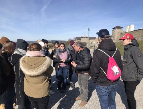 3a und 3b: Gedenkstättenbesuch Hartheim und Mauthausen