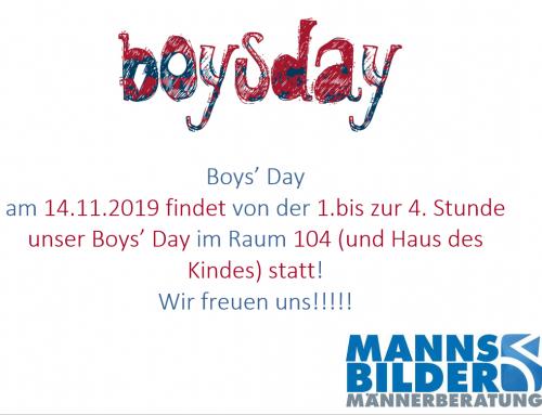 Einladung zum Boys' Day 2019