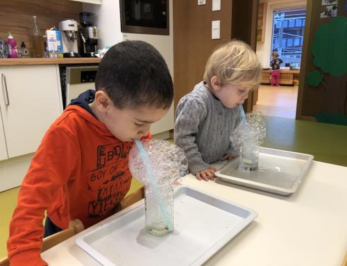 Experimente mit Spülmittelwasser